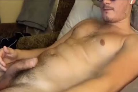 Masturbating And Touching His taut hairy butt